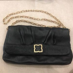BCBG black with gold details clutch/crossbody